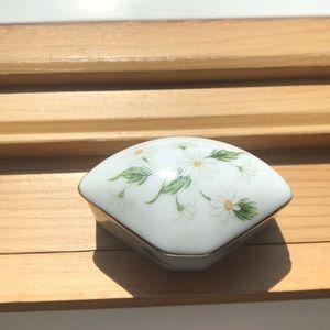 Small floral vintage trinket dish